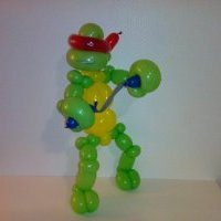 Pinch-twist sculpture sur ballons tortue ninja